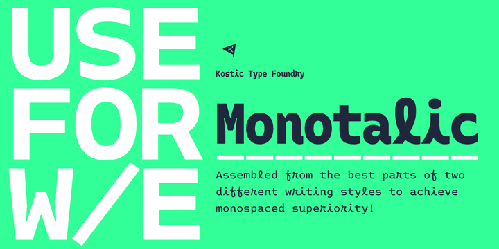 271372 - Font dňa – Monotalic