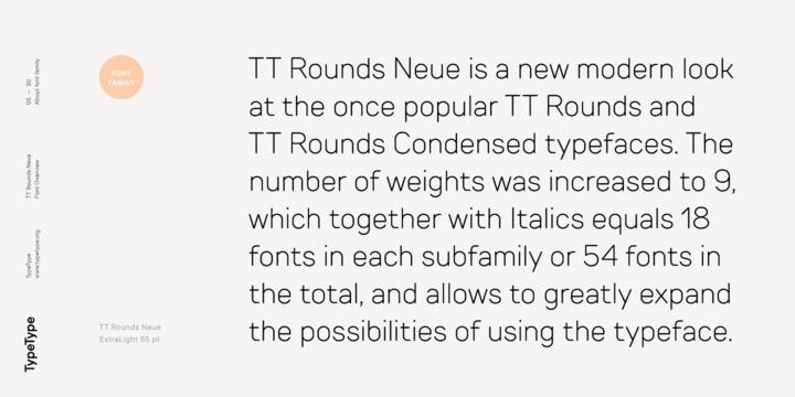 272161 - Font dňa – TT Rounds Neue