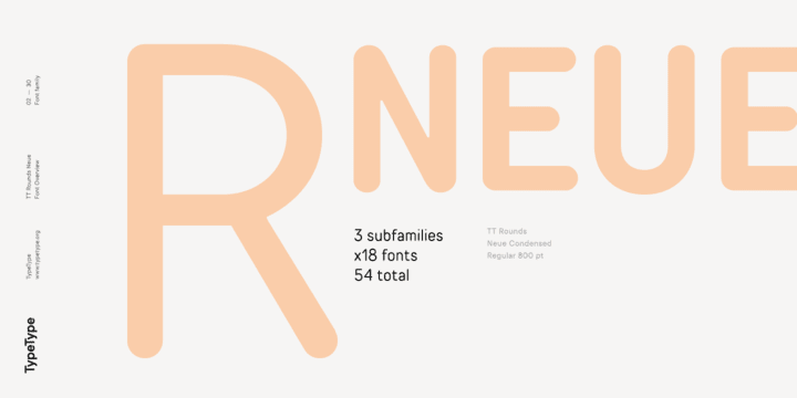 272164 - Font dňa – TT Rounds Neue