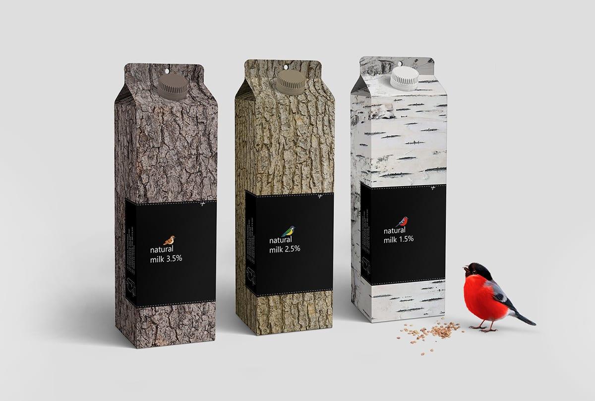 MilkBird pack portfolio 02 - Důmyslný design obalu mléka Bird Feeder