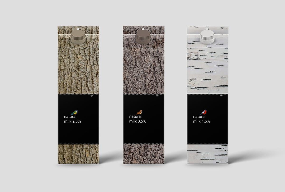 MilkBird pack portfolio 03 - Důmyslný design obalu mléka Bird Feeder