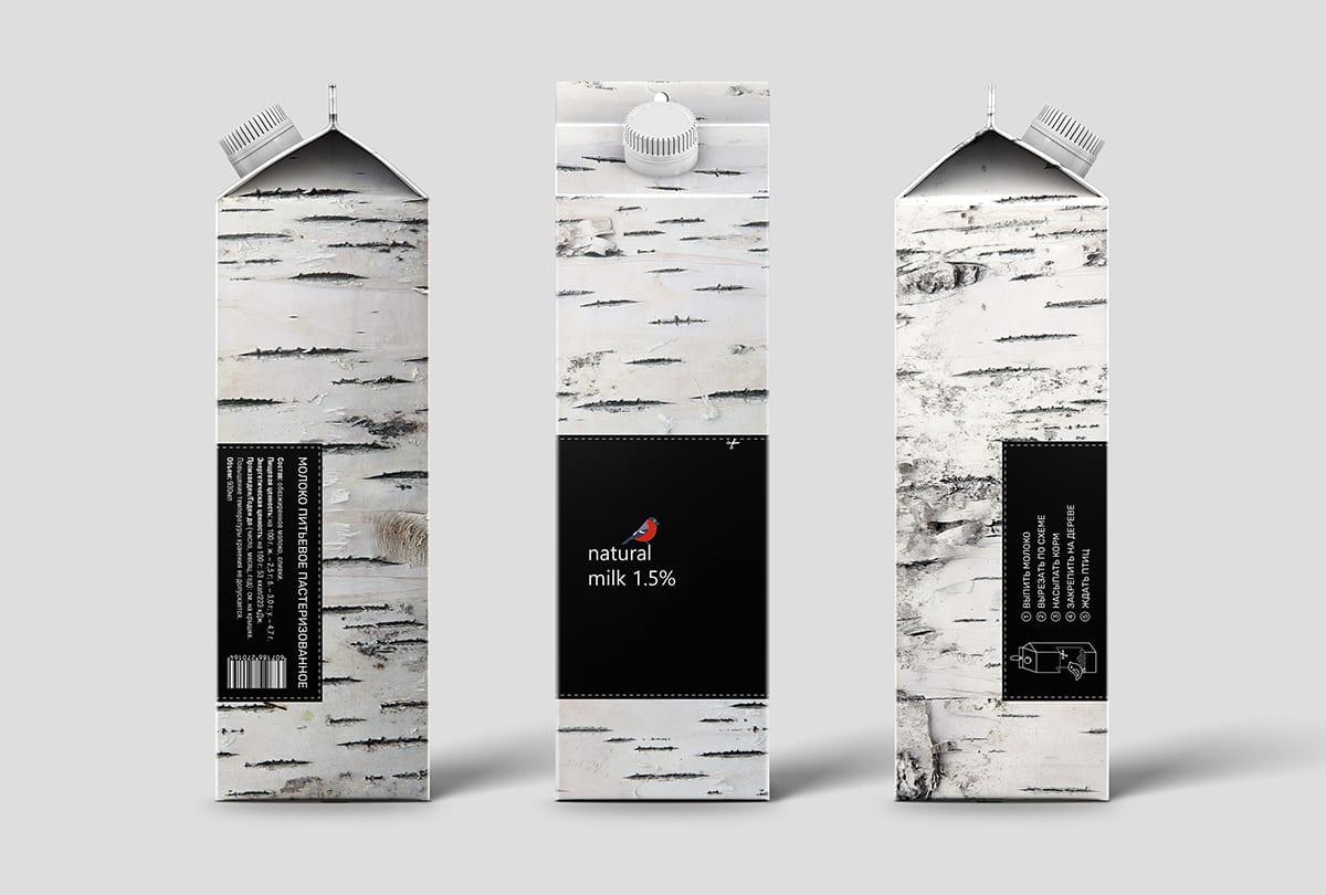 MilkBird pack portfolio 05 - Důmyslný design obalu mléka Bird Feeder