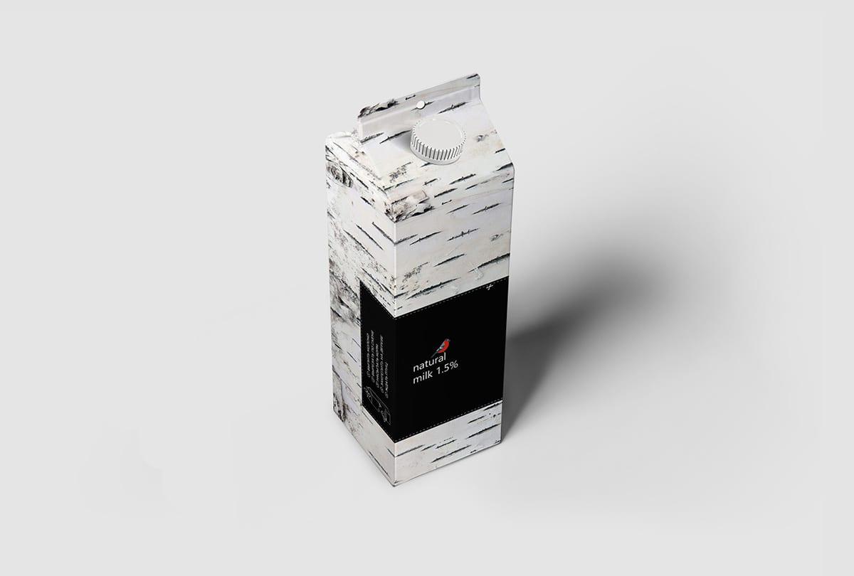 MilkBird pack portfolio 07 - Důmyslný design obalu mléka Bird Feeder