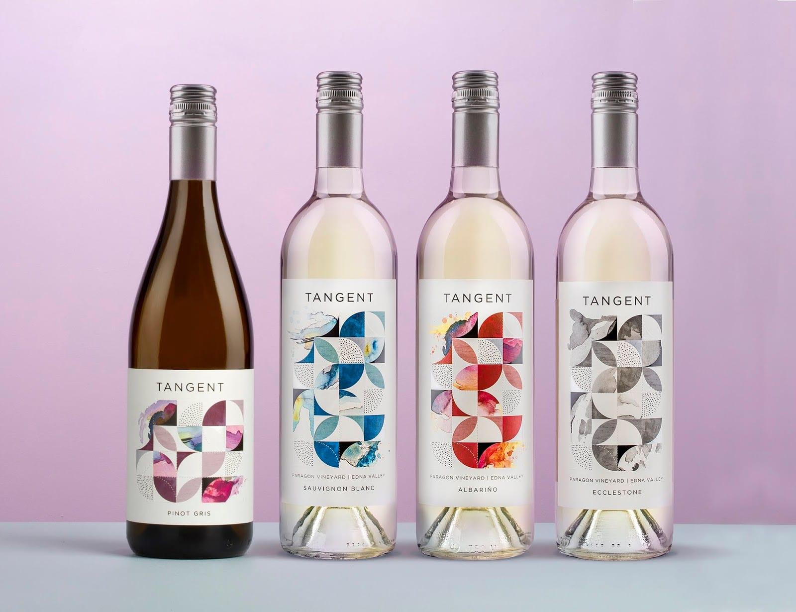 TANGENT img 1 - Redesign obalu Tangent Wines, populárních vín z Kalifornie