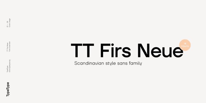277554 - Font dňa – TT Firs Neue