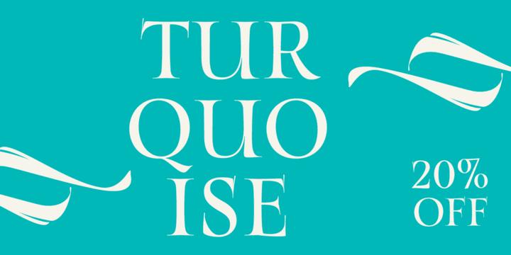 260168 - Font dňa – Turquoise