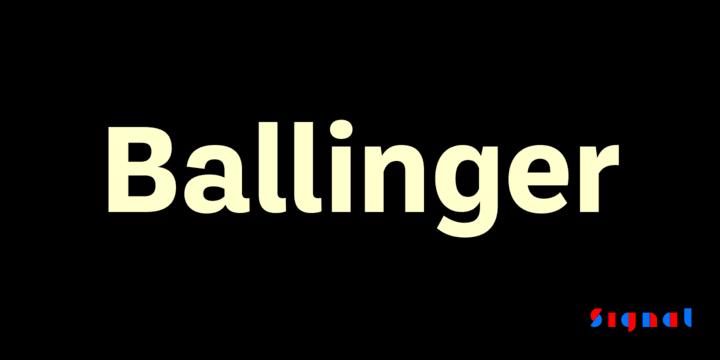 281457 - Font dňa – Ballinger