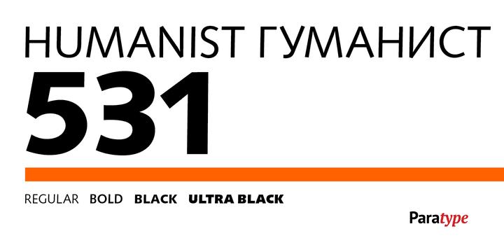 236310 - Font dňa – Humanist 531