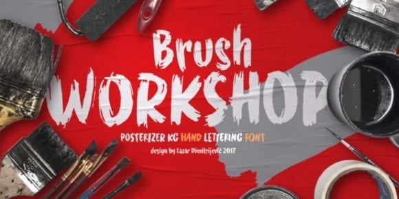 240684 580x290 - Font dňa – WORKSHOP Brush
