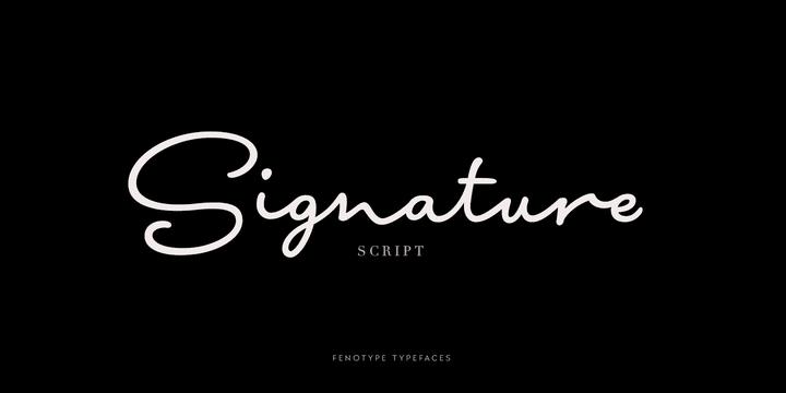 255730 - Font dňa – Signature Script