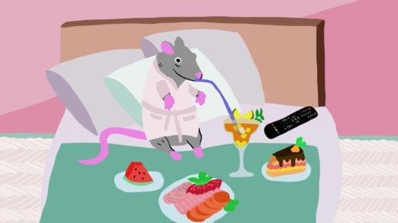 domáci miláčik potkan 580x326 - Nový rodinný animovaný seriál Chochmesovci