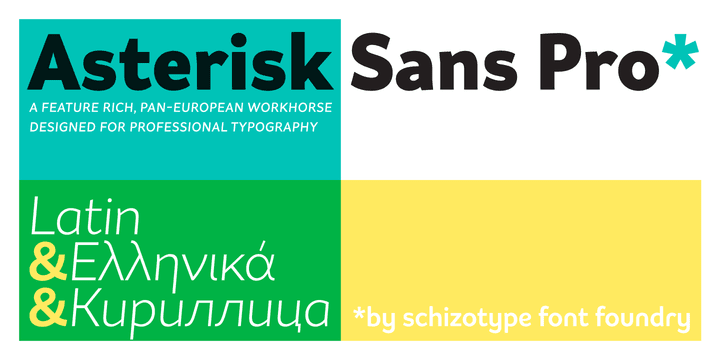 203688 - Font dňa – Asterisk Sans Pro Regular
