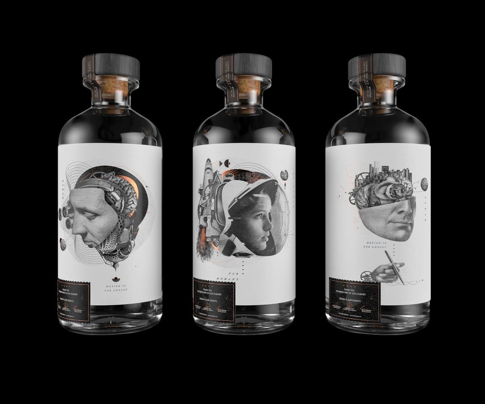 Human Legacy Bottles 3 - Ach, tie obaly – Lahve Human Legacy