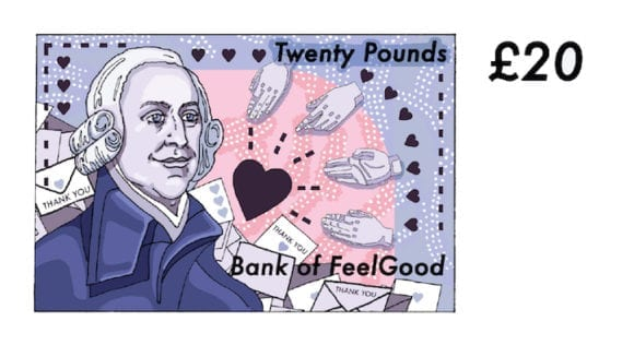 aking 580x316 - Osviežujúce ilustrácie dávajú britským bankovkám nový dych