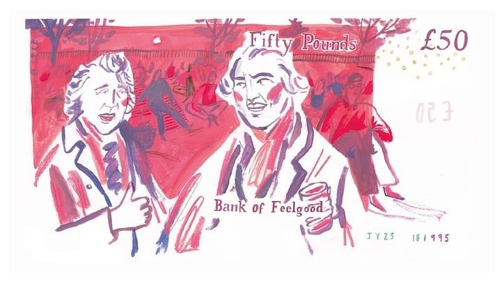 cover - Osviežujúce ilustrácie dávajú britským bankovkám nový dych