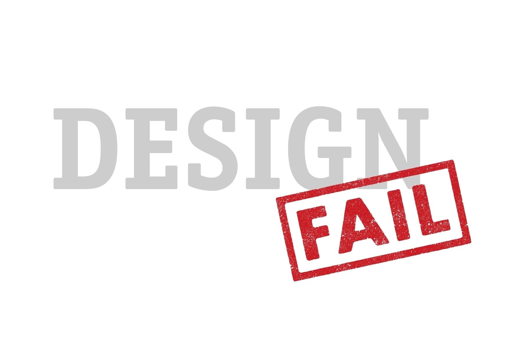uvodny obrazok - 6 fantastických design failů a co se znich můžeme naučit