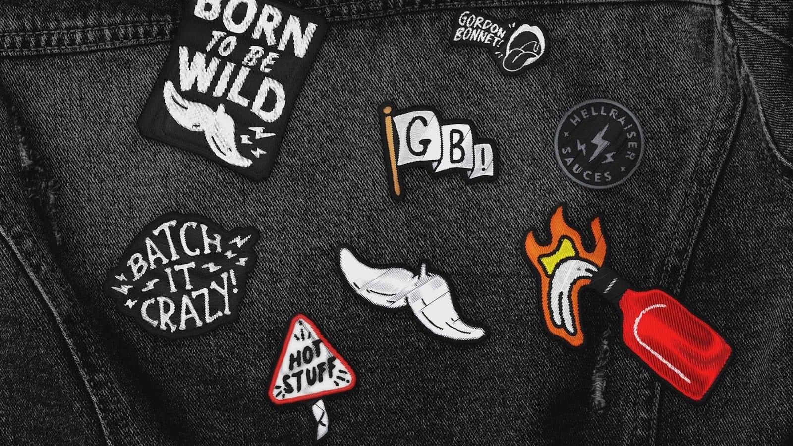 6 gordon bonnet patches - Gordon Bonnet! – Originální omáčkový ďábel