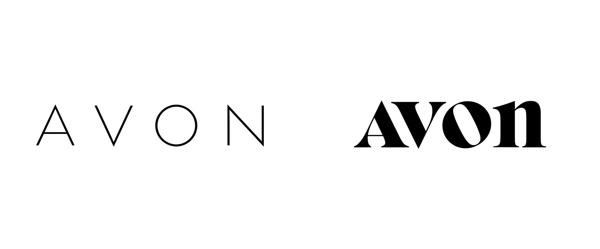avon logo before after - Beauty značka Avon představuje nové mladistvé logo