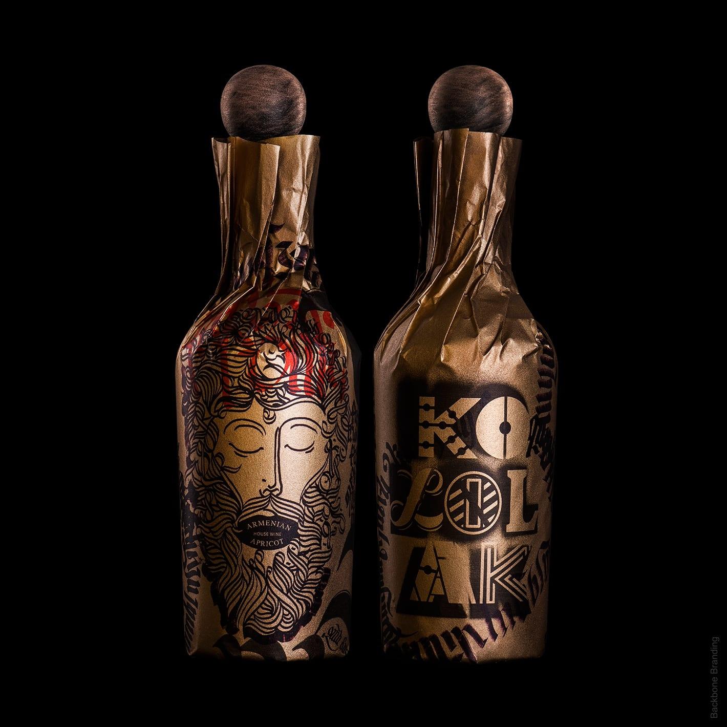 kololak backbone branding 1 - Arménské kulturní dědictví na láhvi Kololak