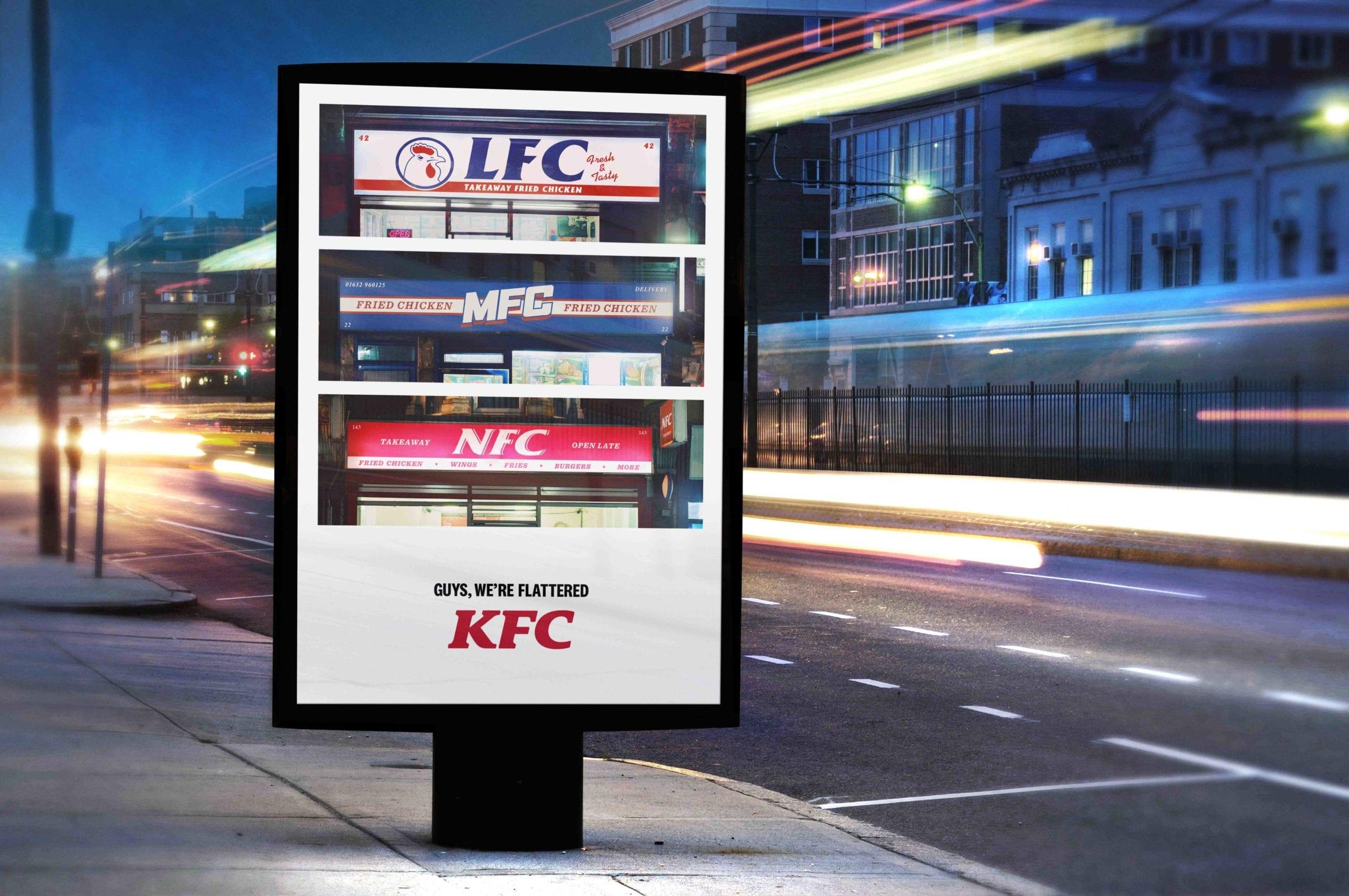 lmn in situ - KFC vnové kampani děkuje svým imitátorům od AFC až po ZFC