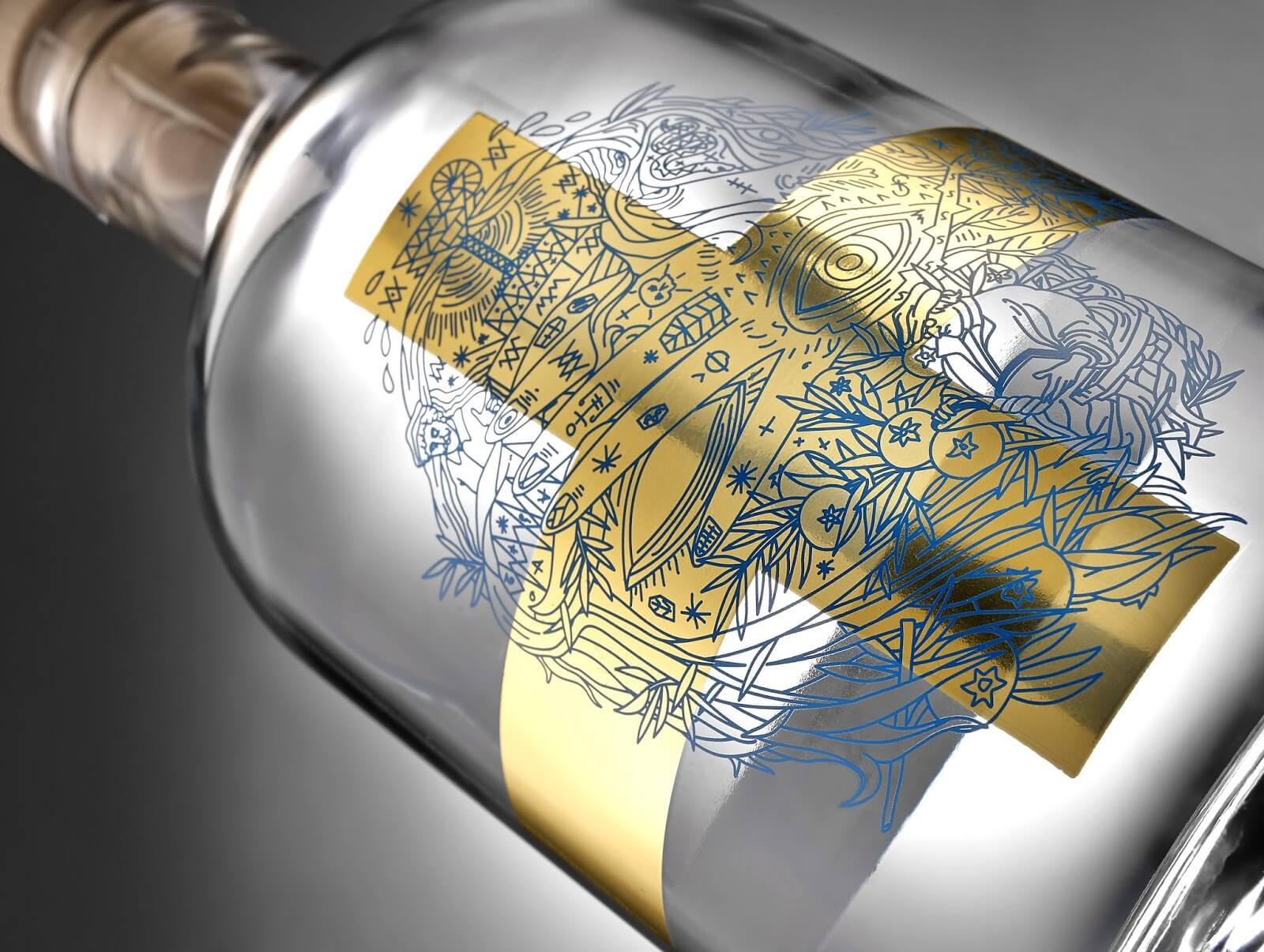 spazio di paolo packaging gin spirits soul gin kurz 10 - Ach, tie obaly – Soul Gin