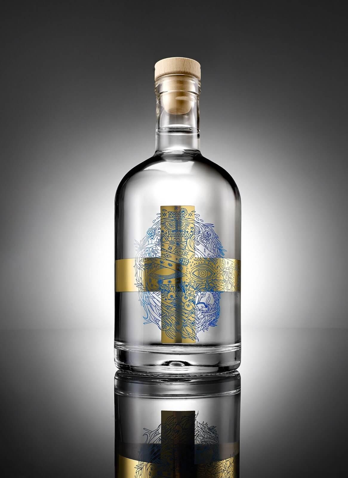 spazio di paolo packaging gin spirits soul gin kurz 7 - Ach, tie obaly – Soul Gin
