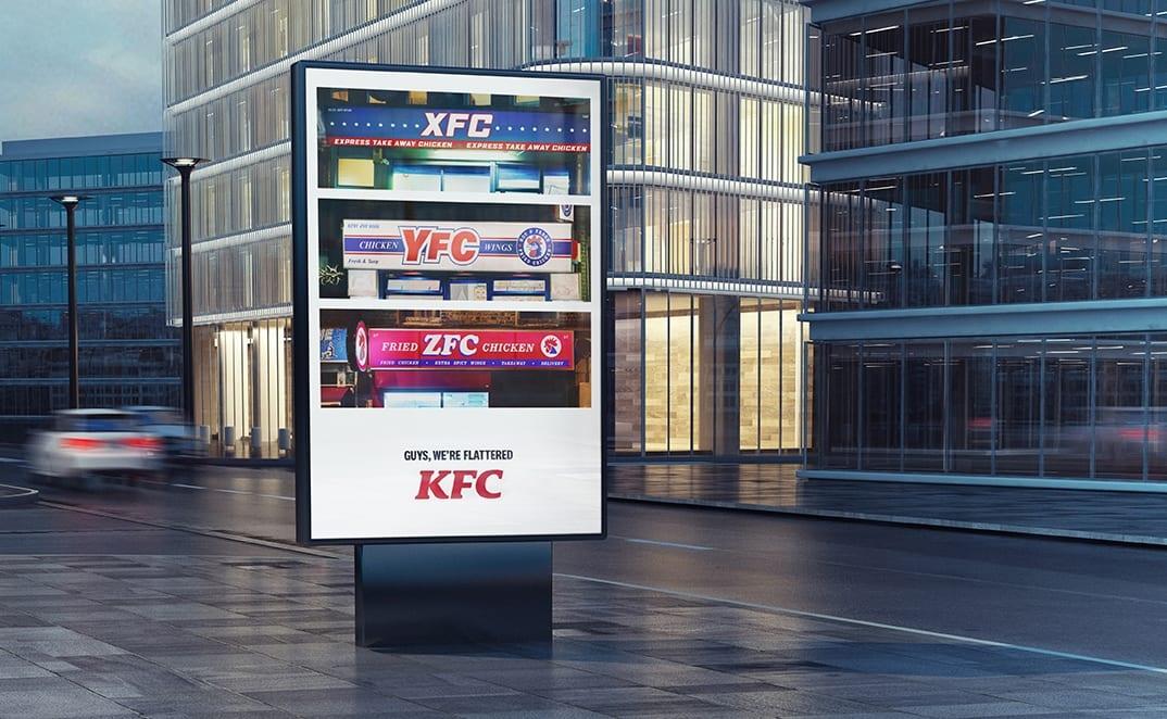 xyz in situ - KFC vnové kampani děkuje svým imitátorům od AFC až po ZFC