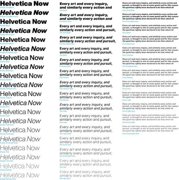 helv2 580x584 - Helvetica teraz: Monotype predstavuje revíziu ikonického písma