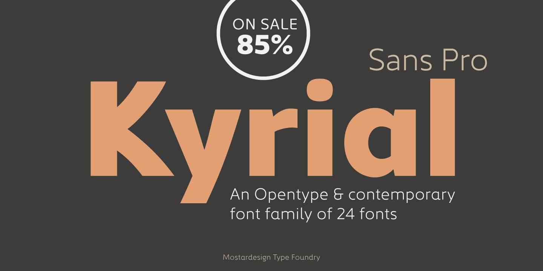 287473 - Font dňa – Kyrial Sans Pro