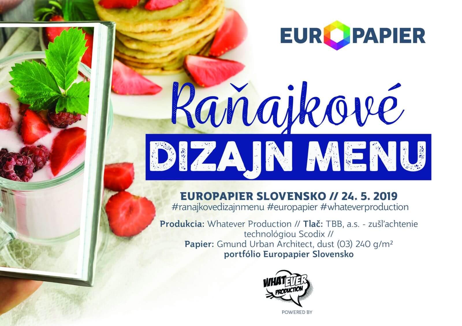 pozvanka mail banner a5 1 - Raňajkové Dizajn MENU – Europapier Slovensko