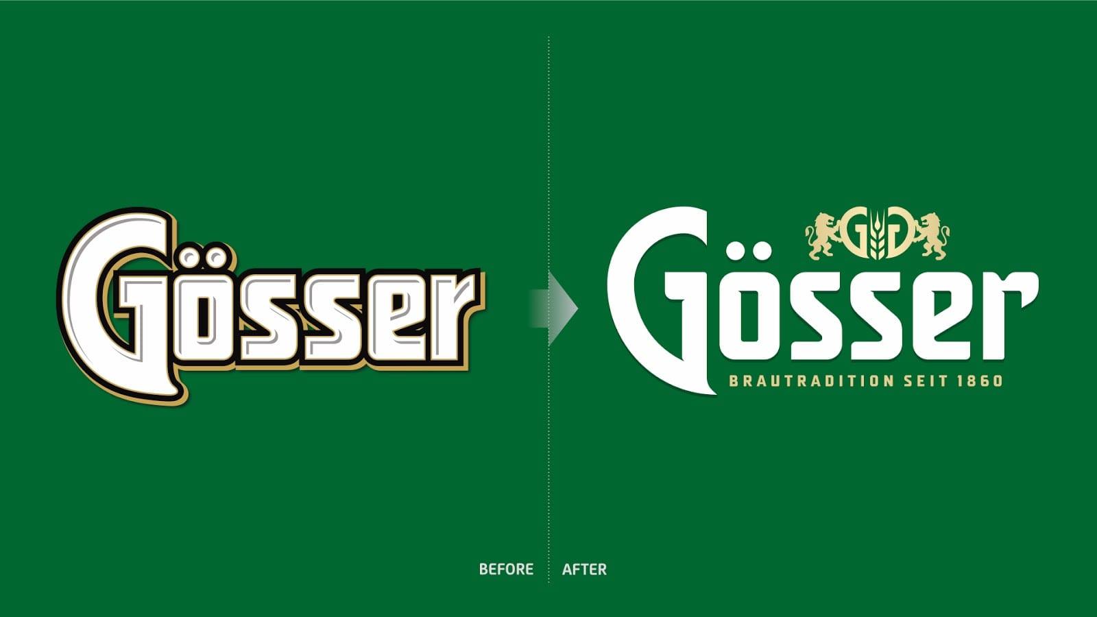 gosser 02 logomigration - Vizuální redesign rakouské značky Gösser