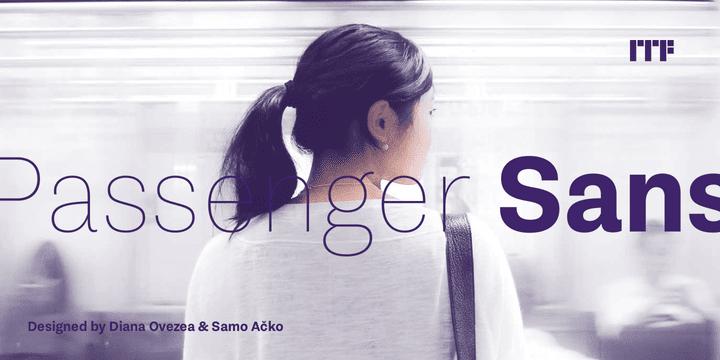 313699 - Font dňa – Passenger Sans