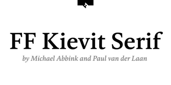 314357 580x290 - Font dňa – FF Kievit Serif