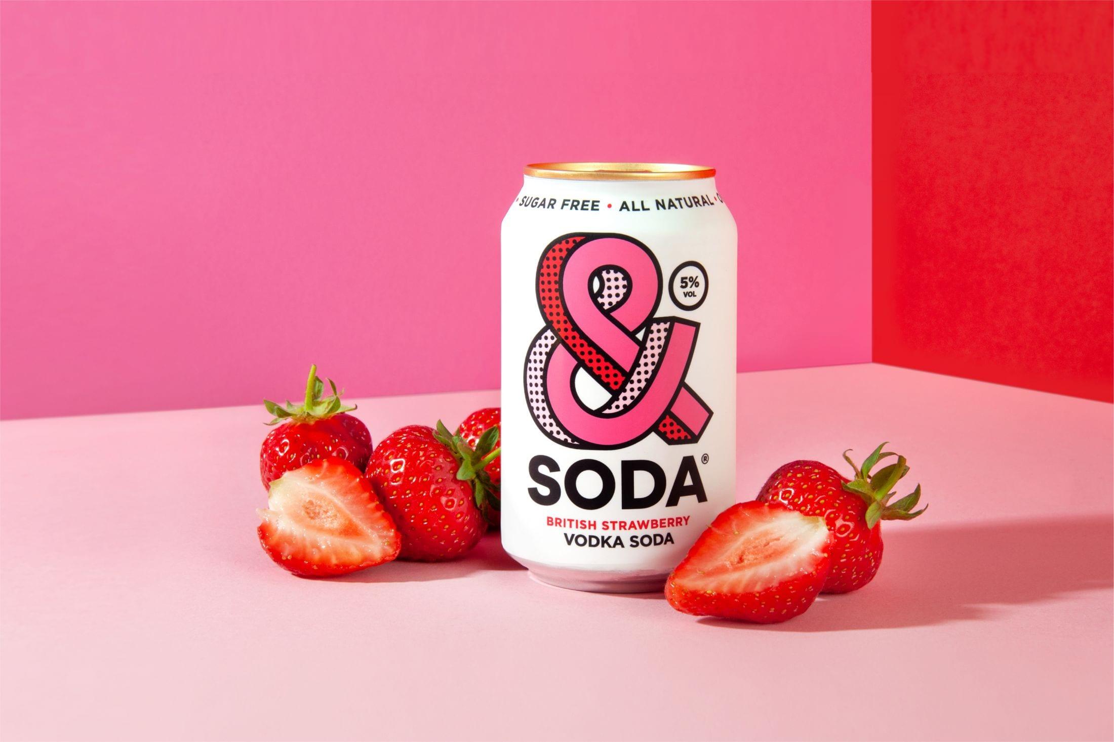 """47ed3b30fe1d6d8be0a1bf4a99349c56cc56d224 2200 - Svěží a ovocná identita pro novou alternativu """"čistého pití"""" &Soda od společnosti Analogue"""