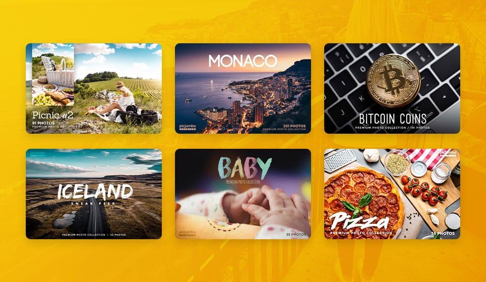 picjumbo premium membership kolekce - Monako, Pizza, Bitcoin nebo Piknik: to jsou nové kolekce stock fotografií od picjumbo