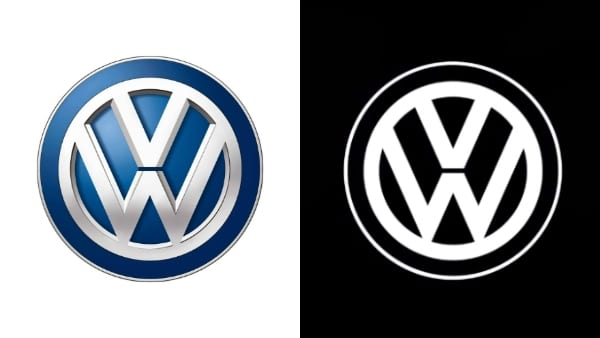 volkswagen vw logo redesign 2 - Volkswagen představil modernizované logo