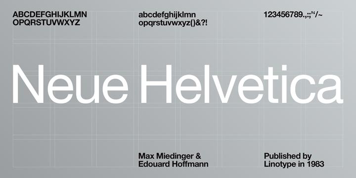 269796 - Font dňa – Neue Helvetica
