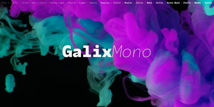 318028 - Font dňa – Galix Mono