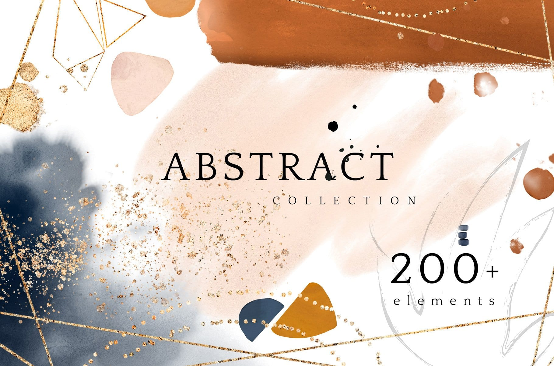 cover 21 - Abstract Watercolor Collection: 200+ prvkov za 17 dolárov!