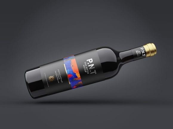 cover 32 580x435 - Stiahnite si zadarmo mockup vínovej fľaše
