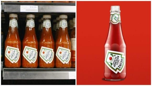 heinz ketchup bottle labels reposition 1 580x327 - Společnost Heinz vytvořila nový štítek nejprodávanějšího kečupu