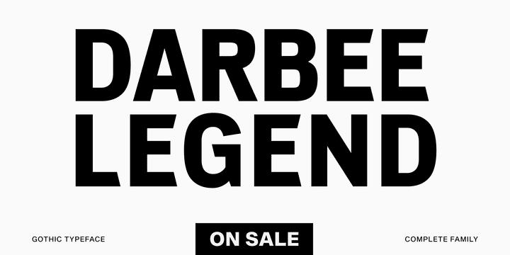 322494 - Font dňa – Darbee Legend