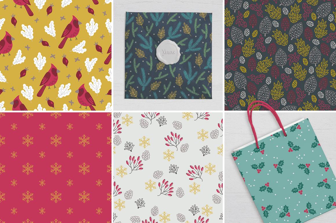 body3 3 - Stiahnite si pestrý set patternov Xmas Forest Kit za 15 dolárov!