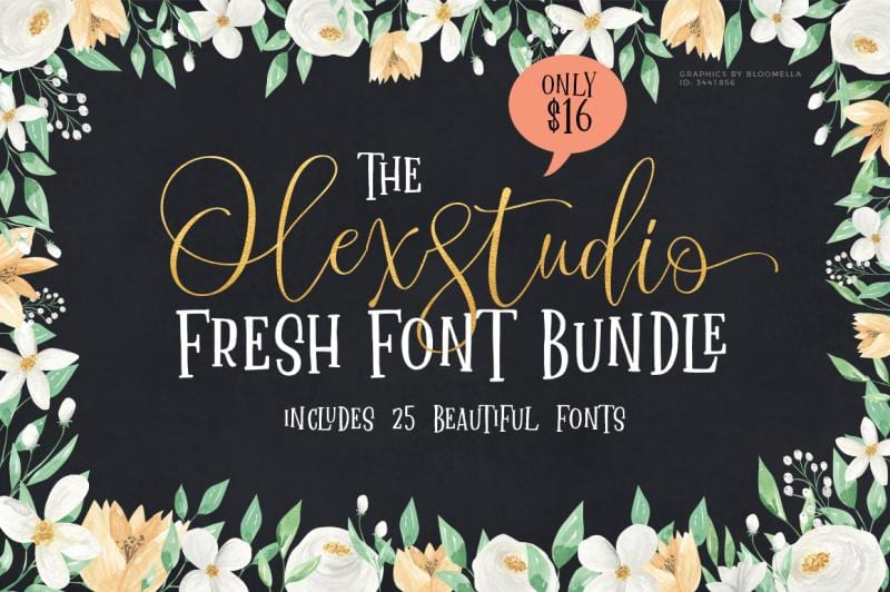 cover 20 - Stiahnite si OlexStudio Fresh Font Bundle s 96% zľavou!