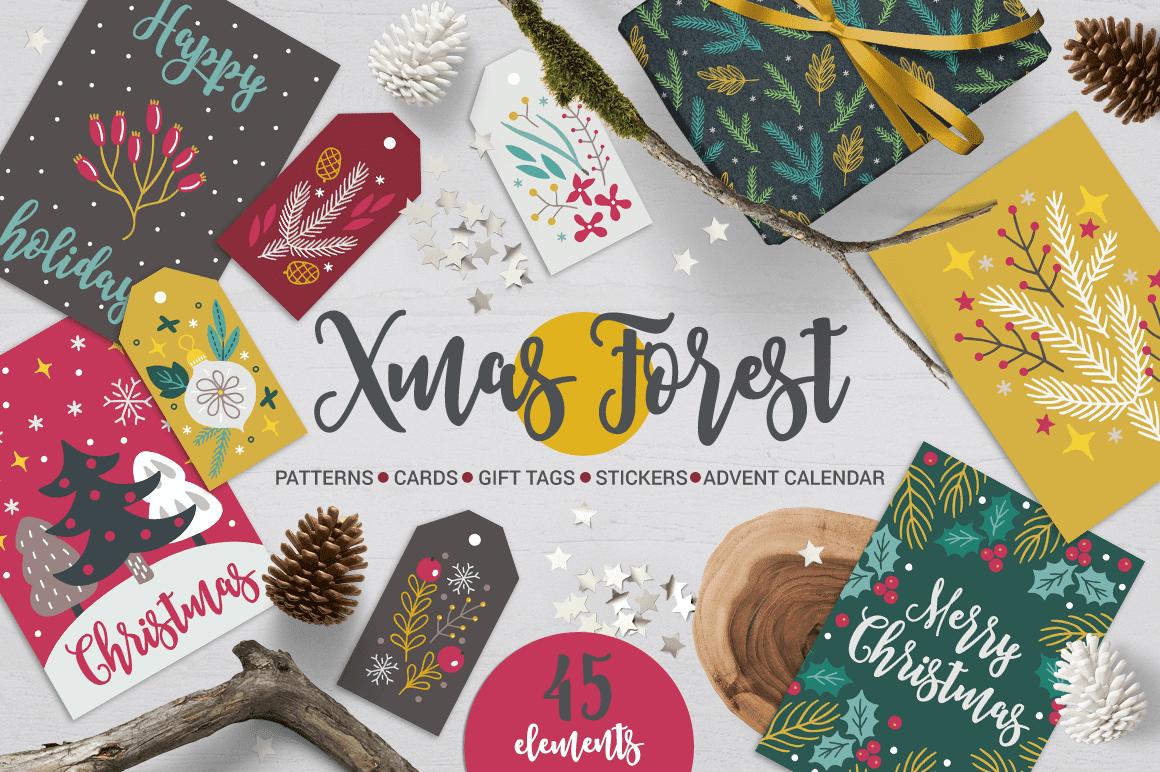 cover 4 - Stiahnite si pestrý set patternov Xmas Forest Kit za 15 dolárov!