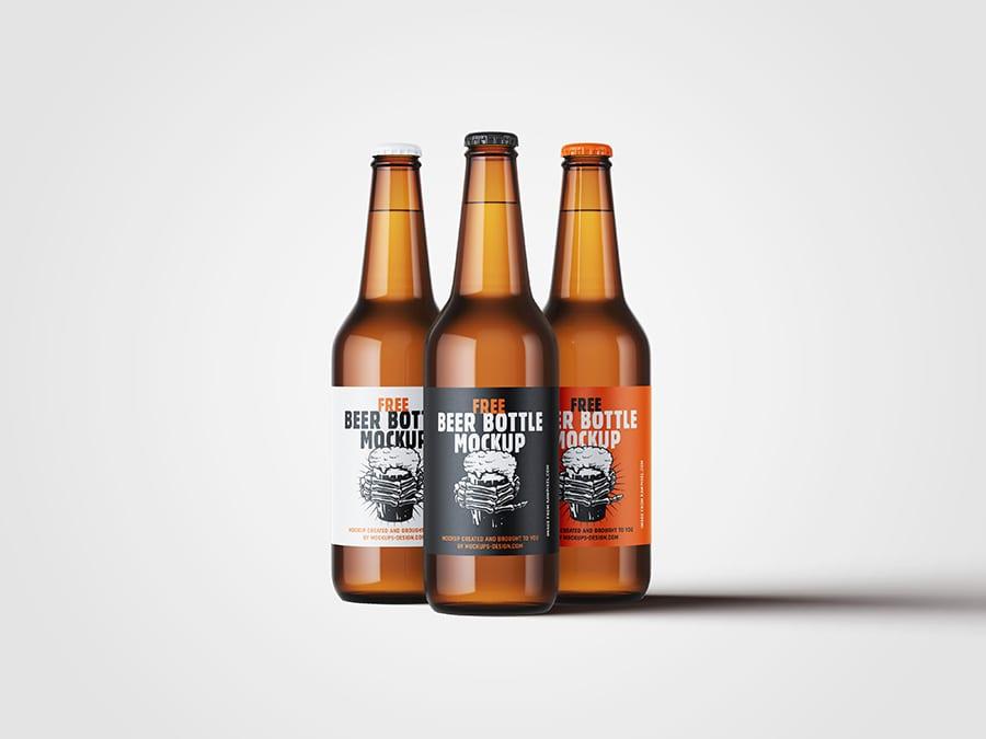 Free Beer Bottle Mockup 2 - Stiahnite si mockup piva