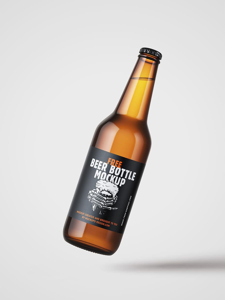 Free Beer Bottle Mockup 3 - Stiahnite si mockup piva