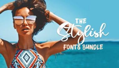 The Stylish Fonts Bundle 380x220 - Balíček stylových písem s92% slevou
