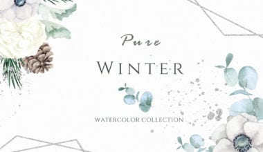 cover1 380x220 - Pure Winter Watercolor collection za 8 dolárov!