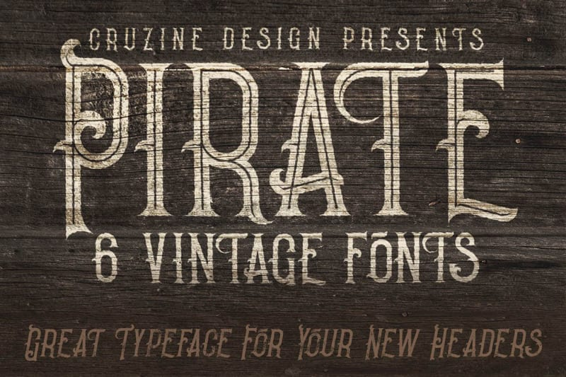 pir2 - Stiahnite si balík 6 štýlových vintage fontov za 8 dolárov!